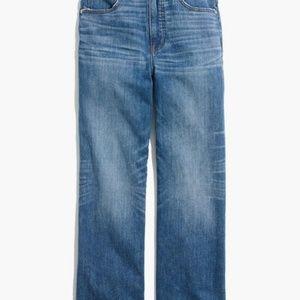 Madewell Slim Wide Leg Jeans Garrett Wash Size 29